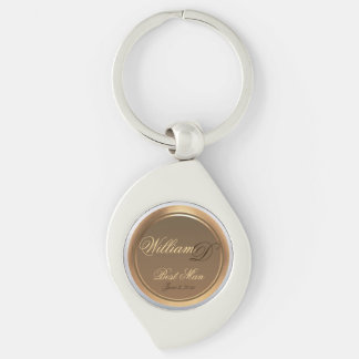 Best Man Customizable Keepsake Swirl Keychain