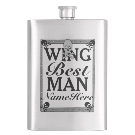 Best Man Gift Flask! From Groom! Add Name! Flask