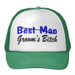 Best Man Grooms Bitch Mesh Hats