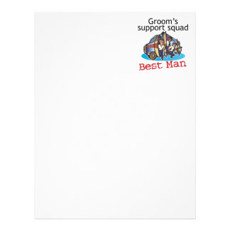 Best Man Groom's Squad Personalized Letterhead