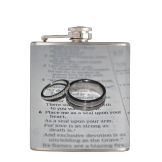 """Best Man"" Groomsman Gift Wedding Rings Flask"