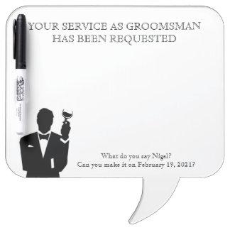 Best Man or Groomsman Whiteboard Invite