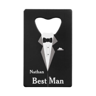 Best Man Personalise Bottle Opener Credit Card Bottle Opener