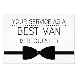 "Best Man Request | Groomsmen 3.5"" X 5"" Invitation Card"