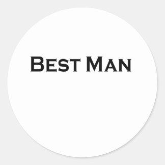 best man round sticker
