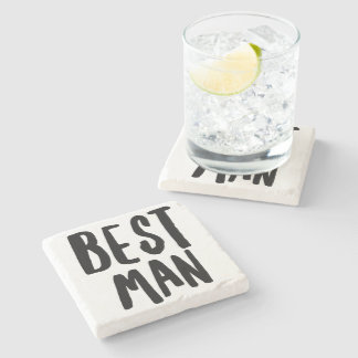 Best Man Stone Coaster