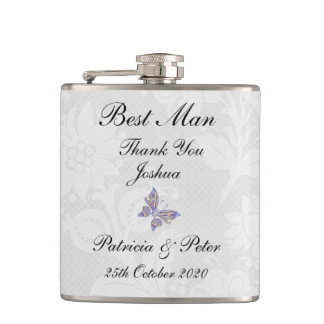 Best Man Thank You Gift Vinyl Wrapped Flask