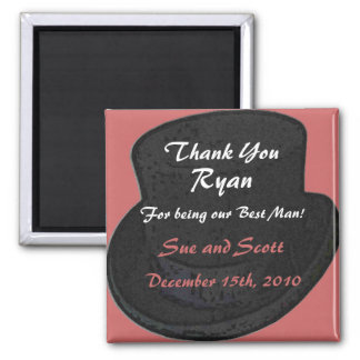 Best Man Thank You Magnet Template - Top Hat