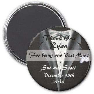Best Man Thank You Magnet Template - Tuxedo