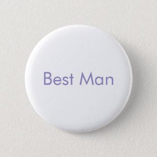 Best Man Violet Tulip Wedding Buttons