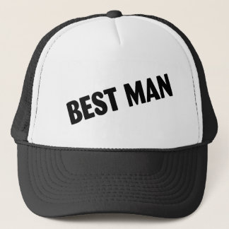 Best Man Wedding Black Trucker Hat