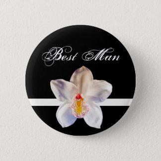 Best Man Wedding ID Badge 2 Inch Round Button