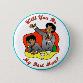 Best Man Wedding ID Button