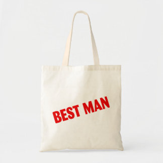 Best Man Wedding Red Budget Tote Bag