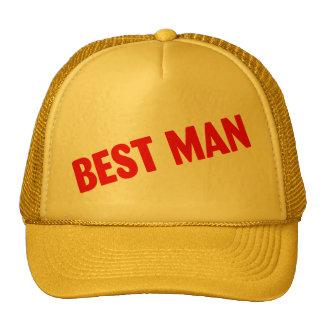 Best Man Wedding Red Hat