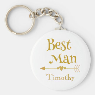 Best man wedding remembrance keychain