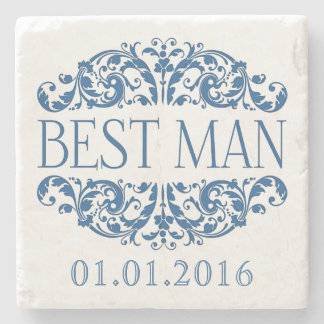 Best man wedding stone coasters Save the Date Stone Beverage Coaster