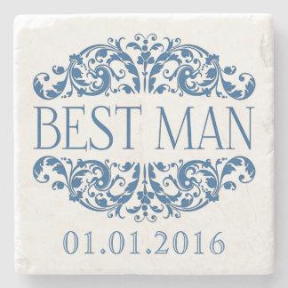 Best man wedding stone coasters Save the Date Stone Beverage Coaster