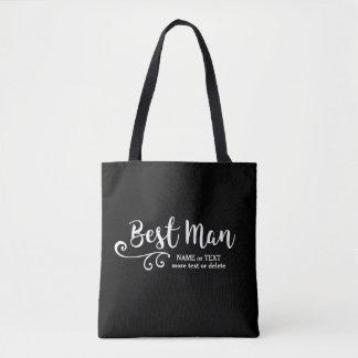 Best Man Wedding Tote Bag | Cool Modern Script