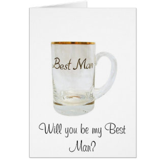 best man, Will you be my Best Man? Card