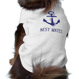 Best Mates Anchor Matching Dog and Human Doggie Tee Shirt