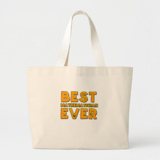 Best mathematician ever large tote bag