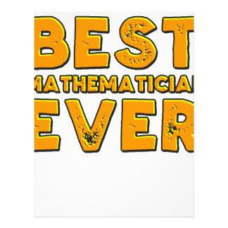 Best mathematician ever letterhead