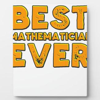 Best mathematician ever plaque