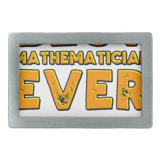 Best mathematician ever rectangular belt buckle