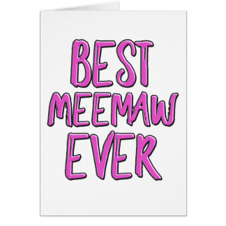 Best meemaw ever card