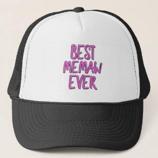 Best memaw ever grandmother trucker hat