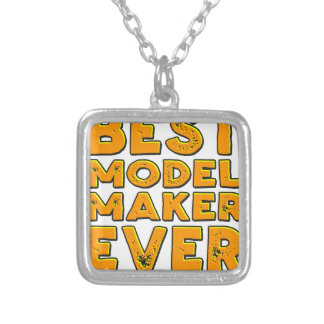 Best model maker ever silver plated necklace