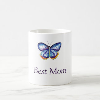 Best Mom Butterfly Drawing Mug