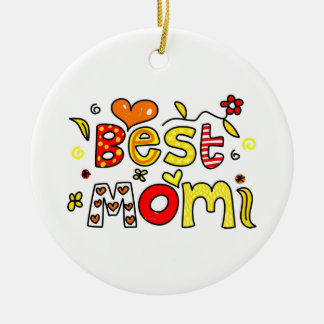 Best Mom Ceramic Ornament