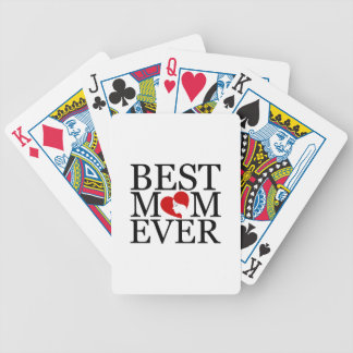 Best mom ever bicycle playing cards