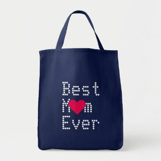 Best Mom Ever Birthday Mothers Day Heart Tote Bag
