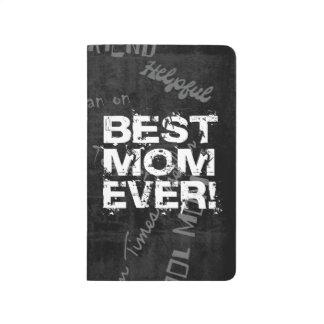 Best Mom Ever, Black/White Grunge Journal