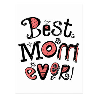 Best Mom Ever Cool Text Postcard