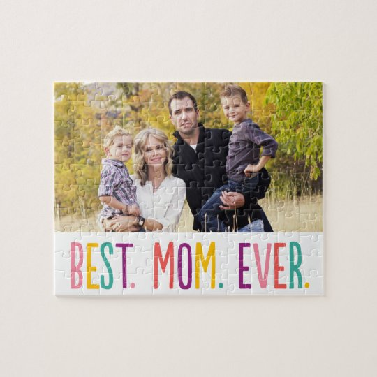 Best Mom Ever Custom Photo Puzzle