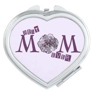 """Best Mom Ever"" Cute Design Mirror For Makeup"
