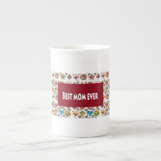 Best MOM Ever Decorative Textures Pattern Shade Tea Cup