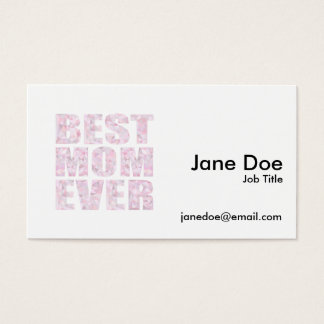 Best Mom Ever - Low Poly Geometric Triangle - Pink Business Card