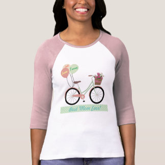 """Best Mom Ever"" Mother's Day Bicycle T-Shirt"