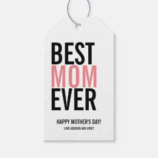 Best Mom Ever Mother's Day Gift Tag