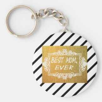Best Mom Ever Mother's day Gold gift Keychain