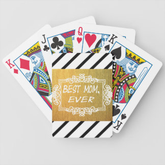 Best Mom Ever Mother's day Gold gift Poker Deck