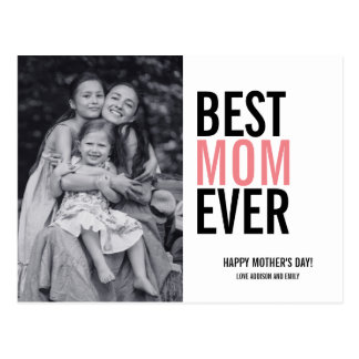 Best Mom Ever Mother's Day Photo Postcard