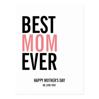 Best Mom Ever Mother's Day Postcard