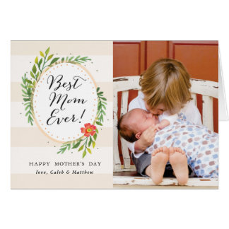 Best Mom Ever Photo Mother's Day Card