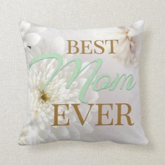 Best Mom Ever Pillow - Mint